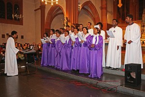Jugenchor der eritreischen Gemeinde