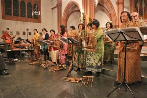 Indonesisches Angklung Orchester