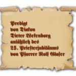 Link zur Predigt von Diakon Wekenborg