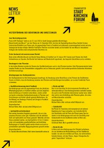 Link zum Newsletter Stadtkirchenforum