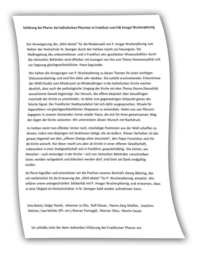 Link zur Unterschriftenliste